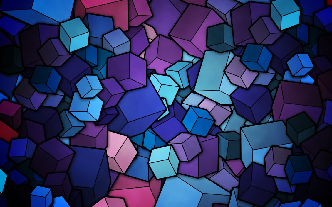 Download Wallpaper 3D colorful shapes - Millions of cubes