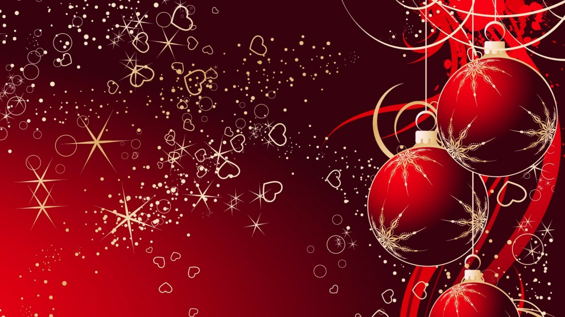 Download Wallpaper Love Christmas Holiday Red Accessories On The Wall