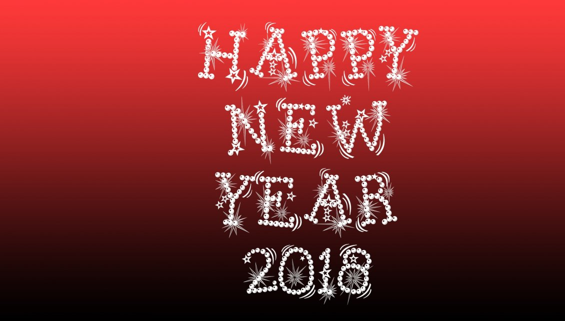 Download Wallpaper Happy New Year 2018 - Red and dark background