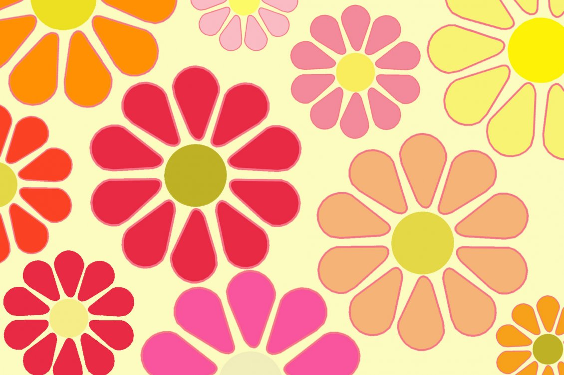 Colorful Flowers In The Background Hd Wallpaper