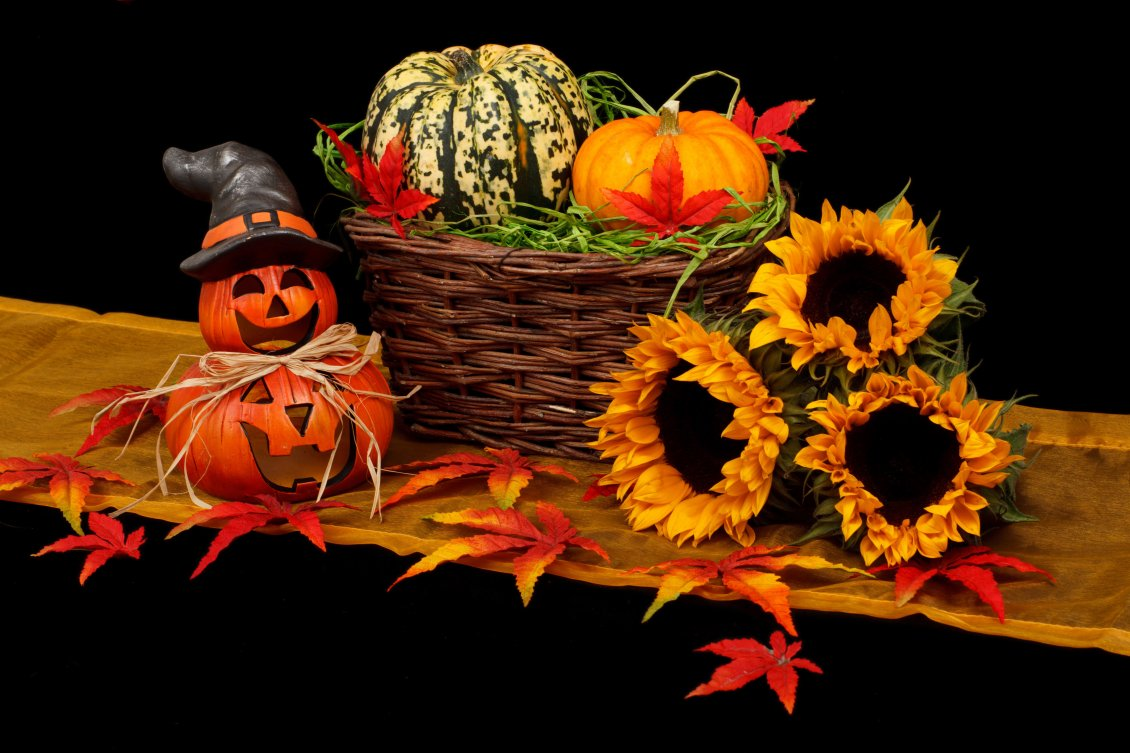 Download Wallpaper Fun day on 31 October - Halloween with pumpkins