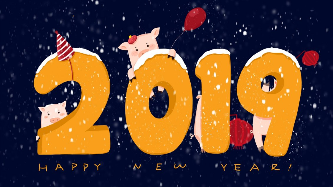 Download Wallpaper Chinese pig year 2019 - Happy New Year