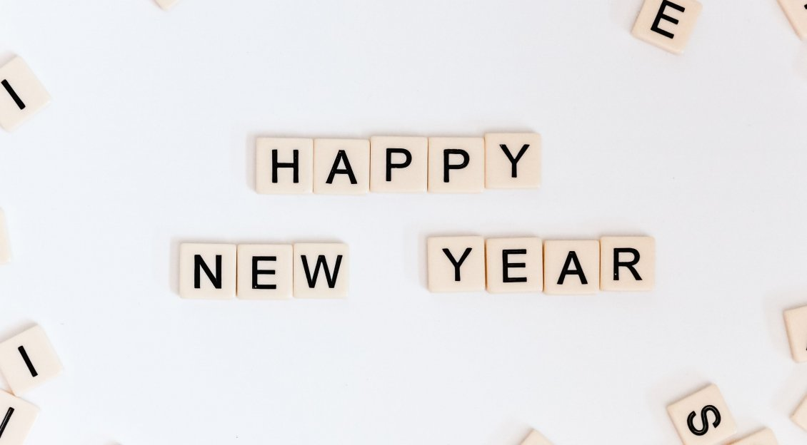 Download Wallpaper Scrabble piece - Happy New Year 2020 word