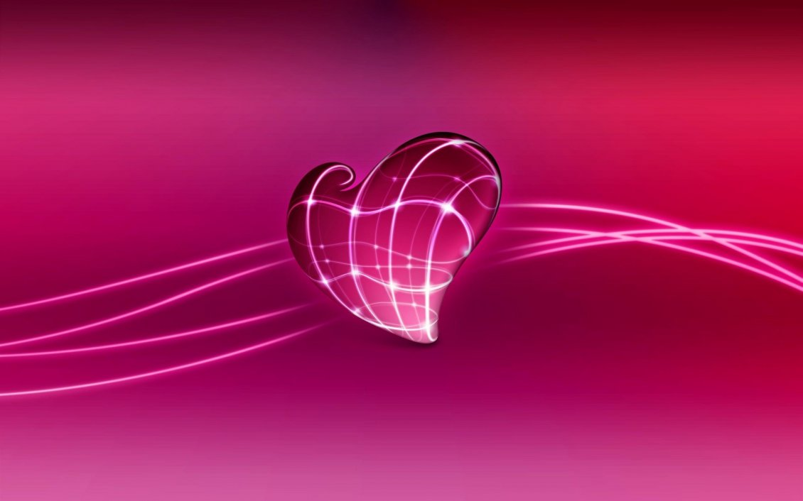 Download Wallpaper Wonderful digital art design-Pink heart on a pink background