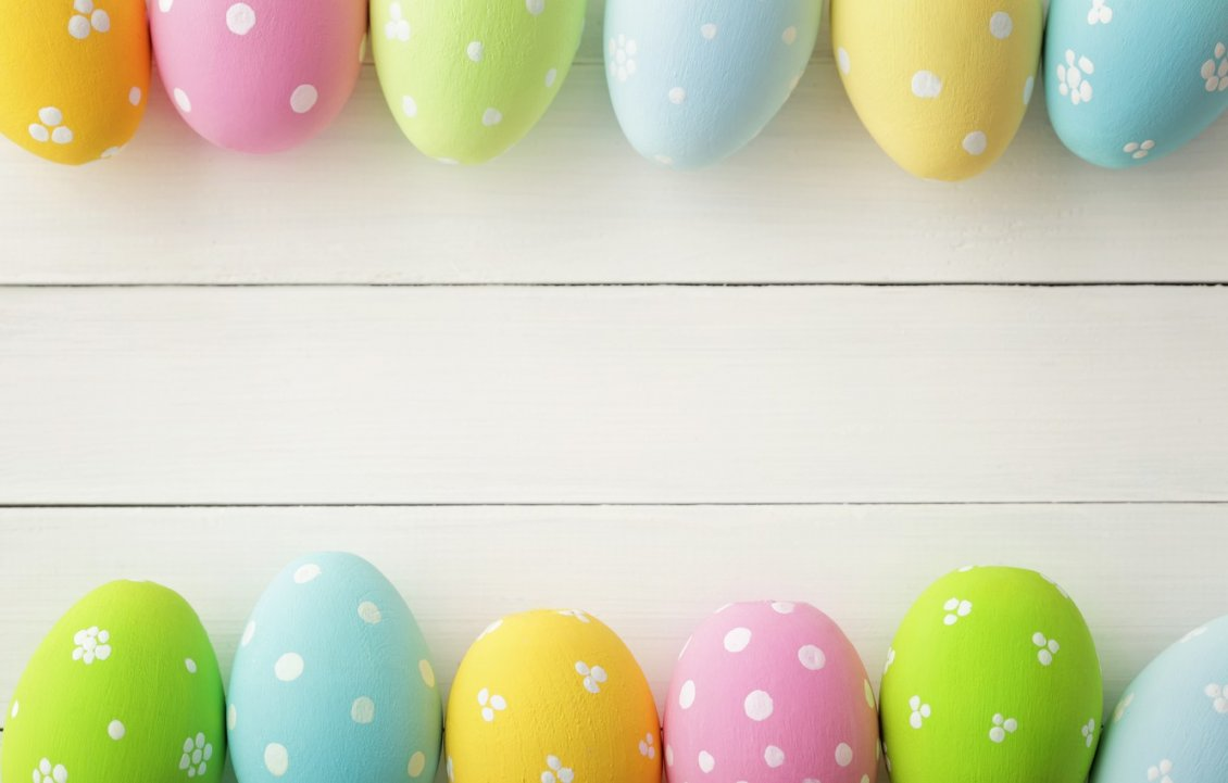 Download Wallpaper Easter frame photo collage coloured eggs with dots