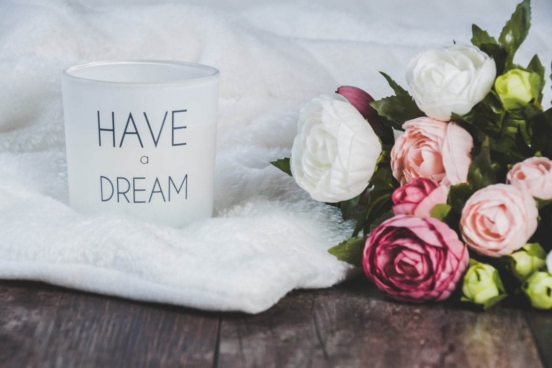Download Wallpaper Have a dream and believe in it - Enjoy your coffee today