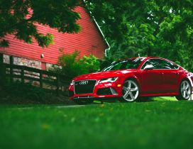 Audi rs7 red HD