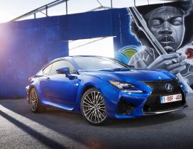 Urban Lexus RC F near a graffiti HD