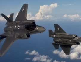 Two Lockheed Martin F-35 Lightning II