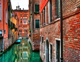 Beautiful view of the street in Venice