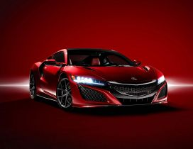 Red Supercar Acura NSX 2016