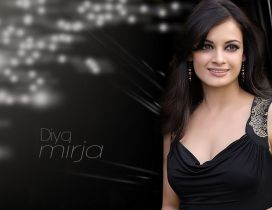 Actress Diya Mirza in black