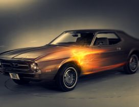 Ford Mustang from the early 1972