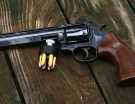 Revolver pistol and ammo