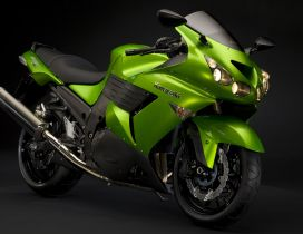 Black and green Kawasaki ZZR 1400