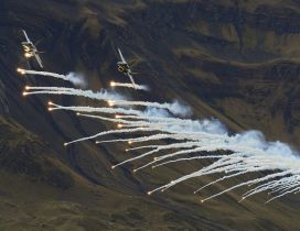 Fighter aircraft flares