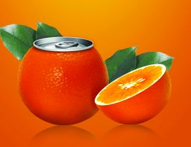 Juice dose in the form of orange