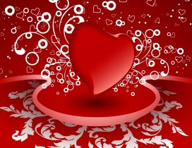 A big red heart and many small hearts