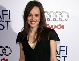 Ellen Page an Canadian actress in black