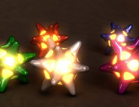3D light star in different colors