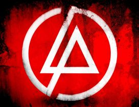 Linkin Park symbol on red and black background