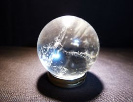 Crystal ball with blue light - 3D wallpaper