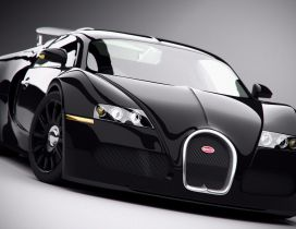 Bugatti Veyron - Black car wallpaper