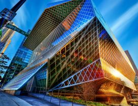 Colorful made of glass - Modern Architecture