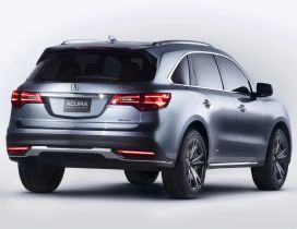 Gray Acura MDX prototype car