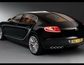 Black car, Bugatti Galibier wallpaper