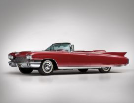 Red Cadillac Eldorado convertible