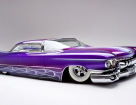 Purple Cadillac Eldorado modified