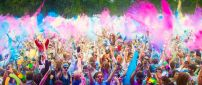 Festival of Colors - Many happy peoples