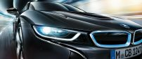 Black BMW I8 on the road - BMW wallpaper