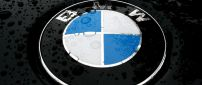 BMW symbol with water drops - HD wallpaper