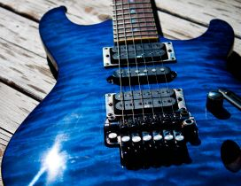 Electric blue guitar - the magic of music