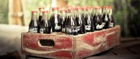 Old Coca-Cola box and bottles - Vintage image