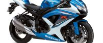 Blue and white motorcycle Suzuki GSX-R1000