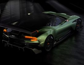 Green Aston Martin Vulcan Top - Sport car