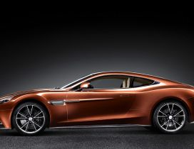 Brown Aston Martin AM 310 - Beautiful car