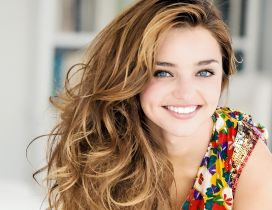 Happy Miranda Kerr - Australian model wallpaper