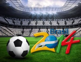 Brasil World Cup 2014 - Stadium and football wallpaper
