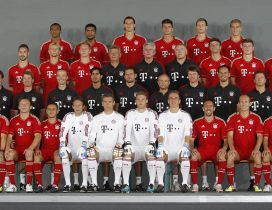 Players of FC Bayern Munchen Team