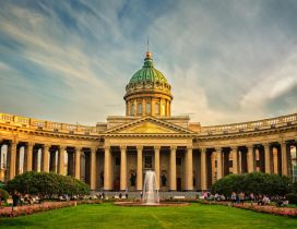 The Kazan Cathedral form St. Petersburg Russia