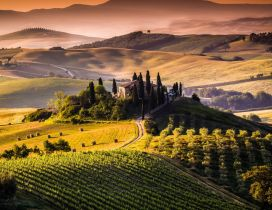 Beautiful nature landscape from Tuscany, Italy
