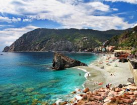 The sea Monterosso, Italy - Beautiful beach