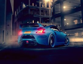 Blue Nissan 370Z Rear - Back view car