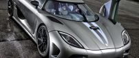 Gray Koenigsegg Agera One with opened door