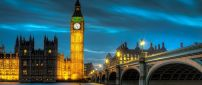 Amazing Palace of Westminster lighted in night