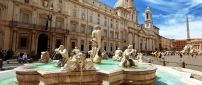 Beautiful La Fontana del Moro from Rome, Italy